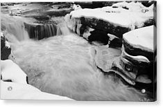 Acrylic Print featuring the photograph Winter Stream by Gary Wightman