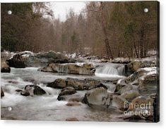 Acrylic Print featuring the photograph Winter Stream by Geraldine DeBoer