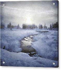 Winter Stream Acrylic Print by Gun Legler