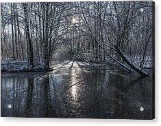 Winter Sun Rays Acrylic Print by Svetlana Sewell