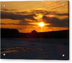 Winter Sun Sets 4 Acrylic Print by Gene Cyr