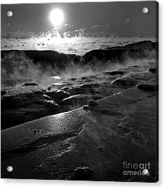 Winter Sunrise Deep Freeze Acrylic Print
