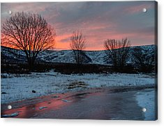 Winter Sunrise Acrylic Print by Chad Dutson