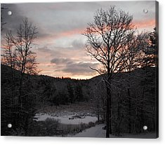 Winter Sunrise Acrylic Print by Mim White