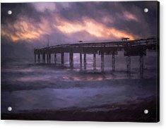 Winter Sunrise St. Augustine Beach Acrylic Print