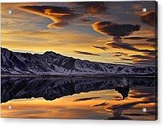 Winter Sunset At Mono Lake Acrylic Print by David Orias