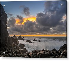 Winter Sunset At Patrick's Point Acrylic Print by Greg Nyquist