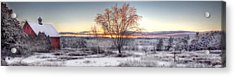 Winter Sunset Acrylic Print by Don Powers