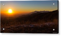 Winter Sunset Acrylic Print by Heidi Smith