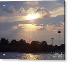Winter Sunset In Freeport Ny Acrylic Print by John Telfer