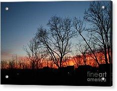 Winter Sunset Acrylic Print by Karen Adams