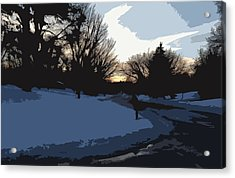 Acrylic Print featuring the digital art Winter Sunset by Kirt Tisdale