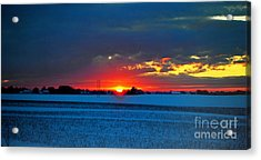 Winter Sunset Acrylic Print by Maja Sokolowska