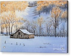 Winter Sunset Acrylic Print by Michelle Wiarda