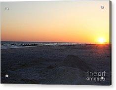 Winter Sunset On Long Beach Acrylic Print