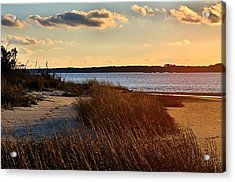 Winter Sunset On The Cape Fear River Acrylic Print