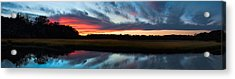 Winter Sunset Over Moultrie Creek Acrylic Print