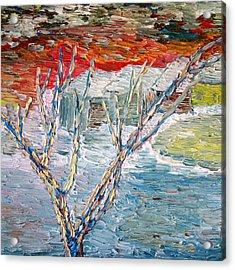 Winter Sunset Acrylic Print by Vadim Levin