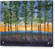 Winter Sunset Acrylic Print by William Killen