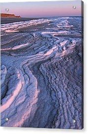 Winter Tide On Plum Island Acrylic Print by Juergen Roth