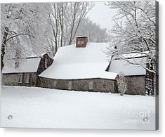 Acrylic Print featuring the photograph Winter At The Fairbanks by Stephen Flint