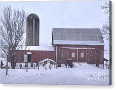 Winter Time Garrett County Maryland Acrylic Print by Dan Friend
