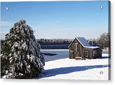 Acrylic Print featuring the photograph Winter Time by Gina Cormier