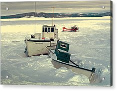 Winter Travel Labrador Acrylic Print