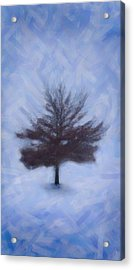 Winter Tree Acrylic Print by Emmanouil Klimis