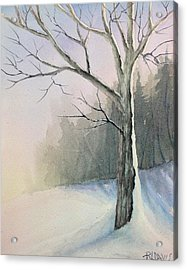 Acrylic Print featuring the painting Winter Tree by Rebecca Davis