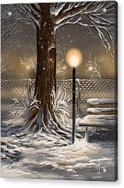 Winter Trilogy 2 Acrylic Print by Veronica Minozzi