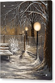 Winter Trilogy 3 Acrylic Print by Veronica Minozzi