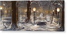 Winter Trilogy Collage Acrylic Print by Veronica Minozzi