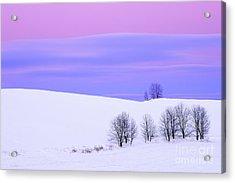 Winter Twilight Landscape Acrylic Print