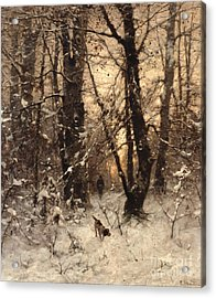 Winter Twilight Acrylic Print by Ludwig Munthe