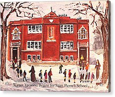 Winter Vacation Begins For Saint Pierre's School Acrylic Print