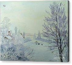 Winter Visitors Acrylic Print