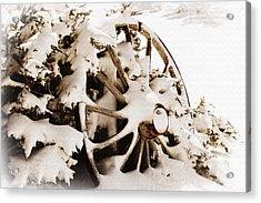 Winter Wagon Wheel Acrylic Print