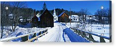 Winter Waits River Vt Acrylic Print by Panoramic Images