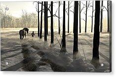 Winter Walk Acrylic Print by Cynthia Decker