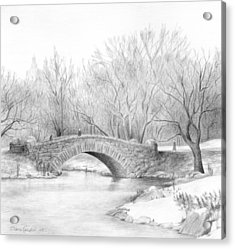 Winter Walk Acrylic Print by Diane Cardaci