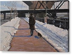 Winter Walk Acrylic Print