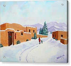Winter Walk Acrylic Print by Mary Anne Civiok