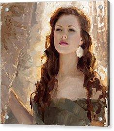 Winter Warmth - Impressionistic Portrait Acrylic Print