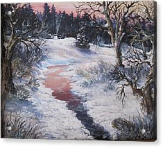 Acrylic Print featuring the painting Winter Warmth by Megan Walsh