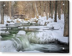 Winter Water Acrylic Print by Bill Wakeley