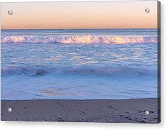 Winter Waves 7 Acrylic Print by Priya Ghose