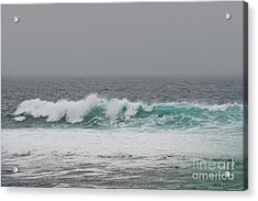 Acrylic Print featuring the photograph Winter Waves by Artist and Photographer Laura Wrede