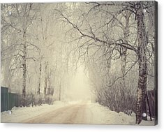 Winter Way Acrylic Print by Jenny Rainbow