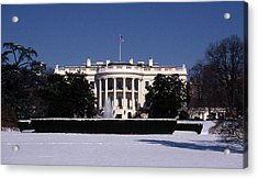Winter White House  Acrylic Print by Skip Willits